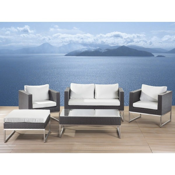 Beliani Outdoor Furniture Creama 5-piece Set in Brown Resin Wicker 16255145