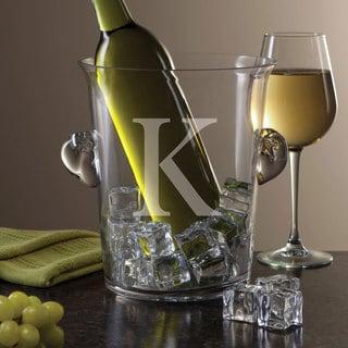Personalized Glass Ice Bucket