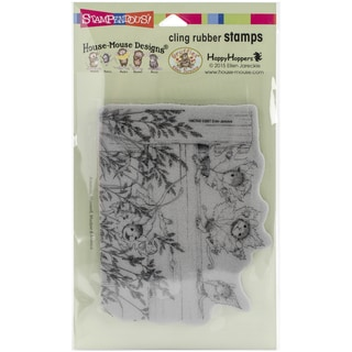 Stampendous House Mouse Cling Rubber Stamp 7.75inX4.5in SheetFence Falling