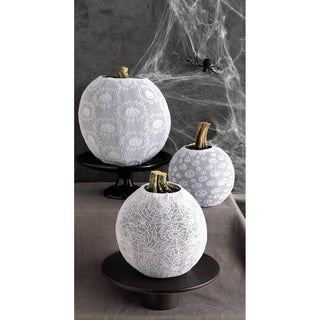 White Pumpkin Sleeves 3/PkgSpooky Night