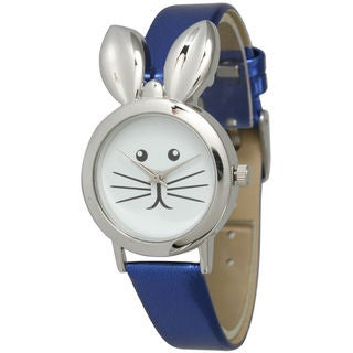 Olivia Pratt Women's Leather Bunny Watch