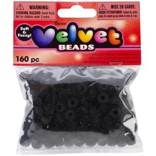 Velvet Beads 6mmX9mm 160/PkgBlack