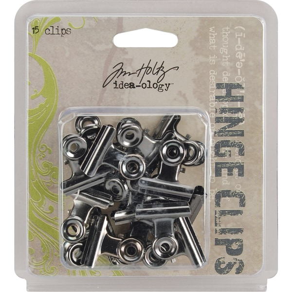 IdeaOlogy Hinge Clips 1in 15/PkgAntique Nickel
