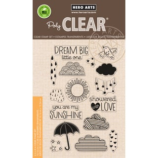 Hero Arts Clear Stamps 4inX6in SheetSun Showers
