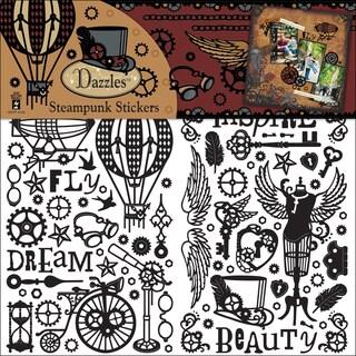 Dazzles Stickers 3/PkgBlack Steampunk