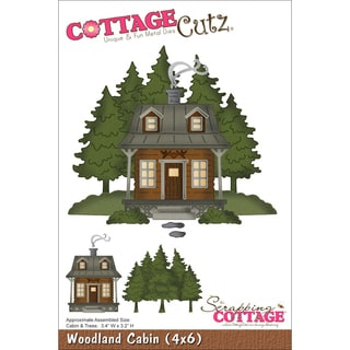 CottageCutz Die Woodland Cabin 3.4inX3.2in