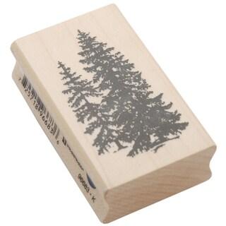 Inkadinkado Mounted Rubber Stamp 2.5inX1.5inPine Trees