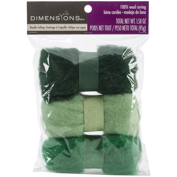 Feltworks Roving Trio Pack 1.58ozGreens
