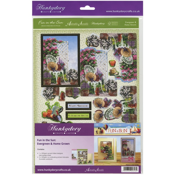 Fun In The Sun Luxury Decoupage Set A4Evergreen & Home Grown