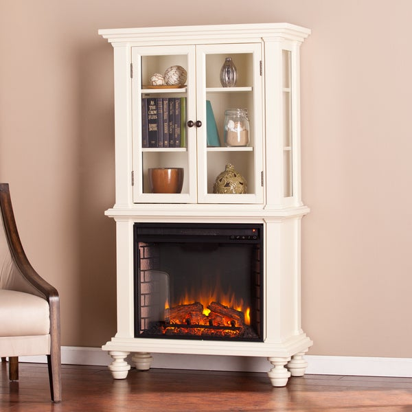 Harper Blvd Knox Antique White Electric Fireplace Curio 17647210 Shopping