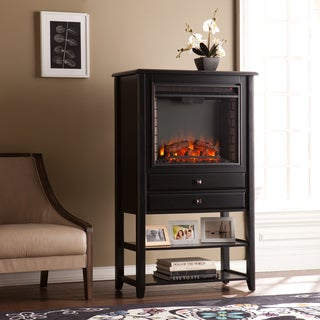 Upton Home Mahoney Corner Convertible Electric Fireplace Storage Tower