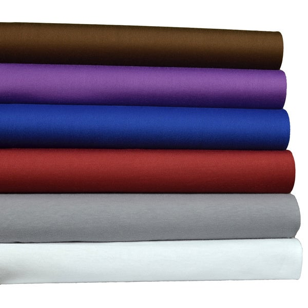 Easy Care Microfiber Jersey Knit (T-shirt) Sheet Set