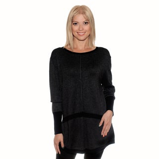 Nancy Yang Women's Long Style Button-back Sweater