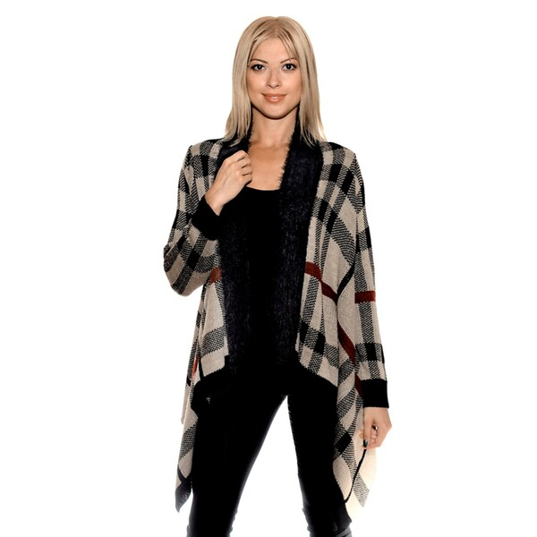 Nancy Yang Women's Tartan Cardigan
