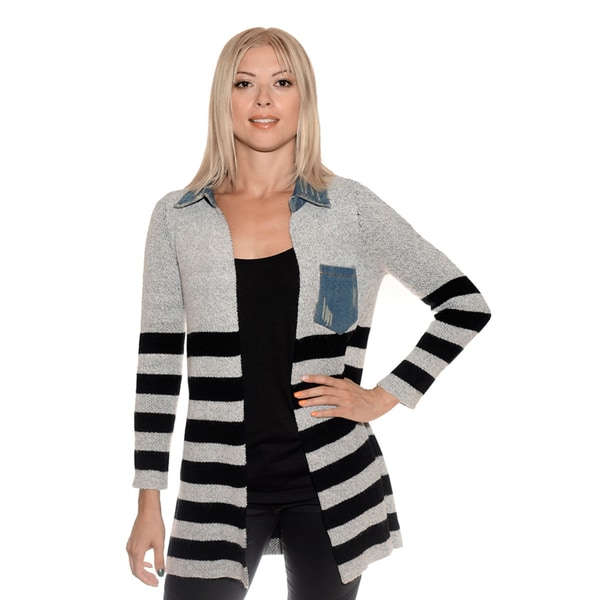 Nancy Yang Women's Jean Pocket Cardigan
