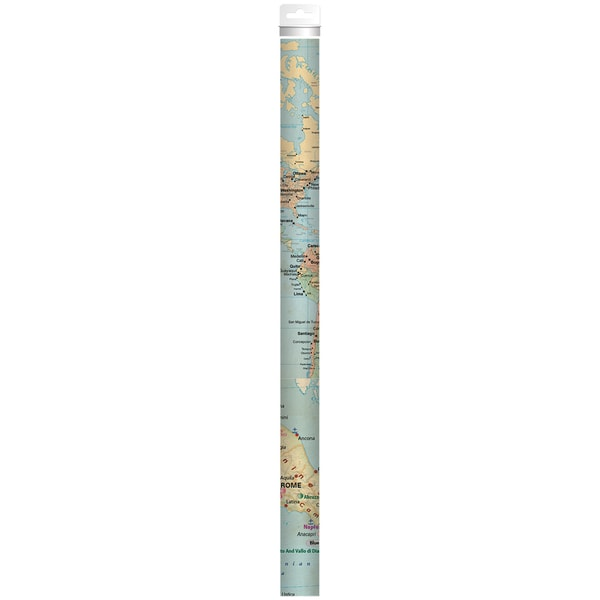 Wrap It Up Paper RollMaps Of The World 18inX48in 3/Pkg