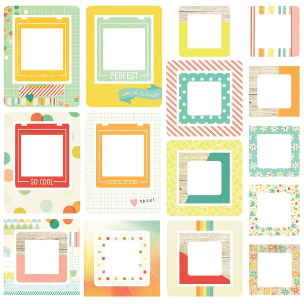 Summer Vibes Chipboard Frames 24/Pkg