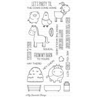 My Favorite Things Birdie Brown Stamps 4inX8in SheetThe Whole Herd