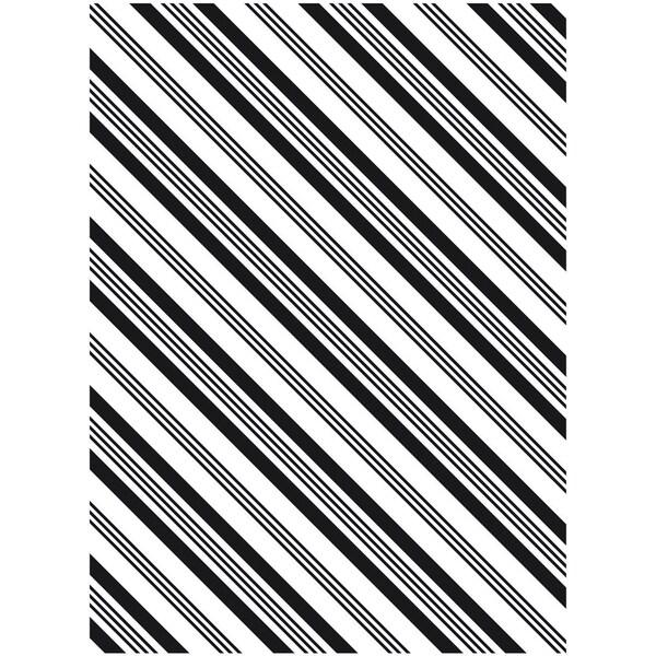 Embossing Folder 4.25inX5.75inStripe Background