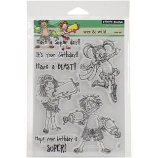 Penny Black Clear Stamps 5inX6.5in SheetWet & Wild