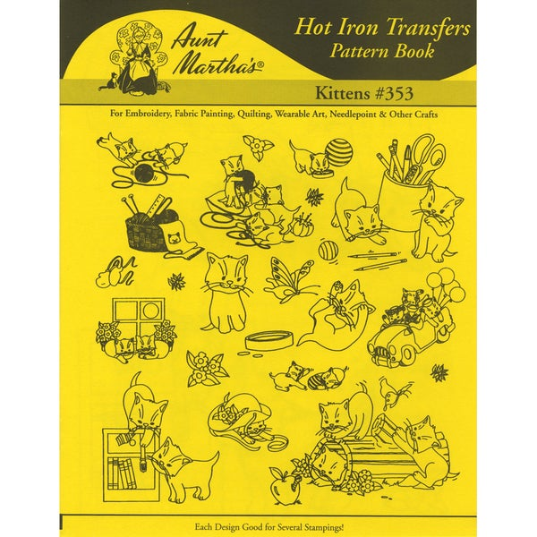 Aunt Martha's IronOn Transfer BookKittens