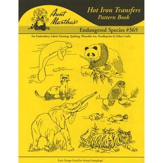 Aunt Martha's IronOn Transfer BookEndangered Species