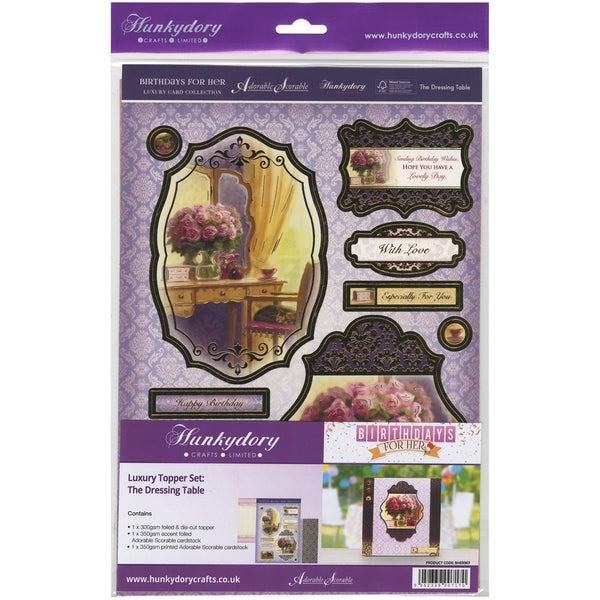 Birthdays For Her Luxury Topper Set A4The Dressing Table