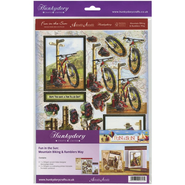 Fun In The Sun Luxury Decoupage Set A4Mountain Biking & Ramblers Way