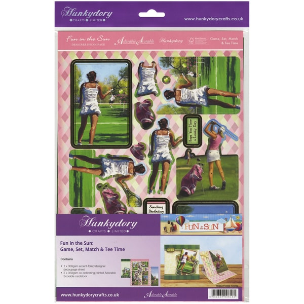 Fun In The Sun Luxury Decoupage Set A4Game, Set, Match & Tee Time