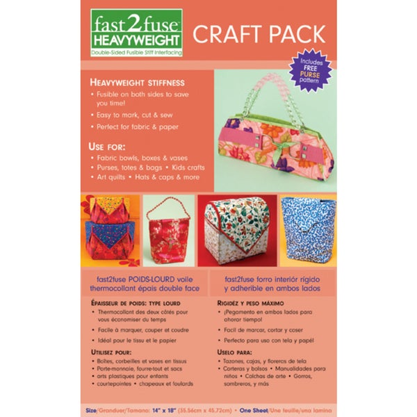 Fast2fuse Craft Pack Interfacing Heavyweight14inX18inX3/32in
