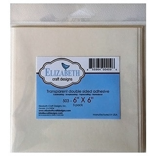 Elizabeth Craft Clear DoubleSided Adhesive 6inX6in 5/Pkg