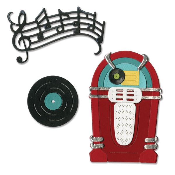 Sizzix Thinlits Dies 11/PkgJuke Box & Music