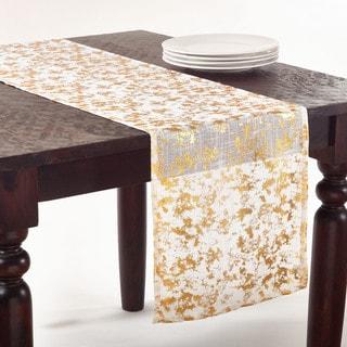 Abstract Brushed Foil Design Runner