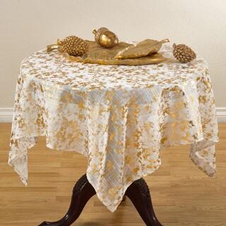 Foil Print Design 52-inch Tablecloth