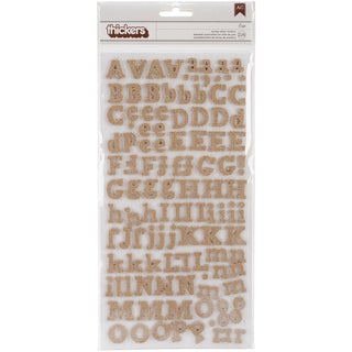 DIY Thickers Alphabet Stickers 6inX11in Sheets 2/PkgEric/Burlap Chipboard