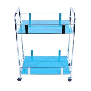 Versa 31-inch Capri Breeze Glass/ Metal Rectangular Cart
