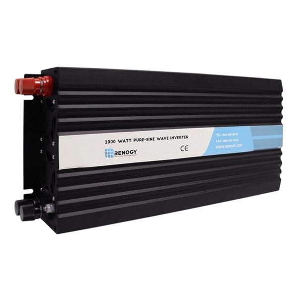 Renogy 2000W 12V Off-Grid Pure-Sine Wave Battery Inverter with Cables