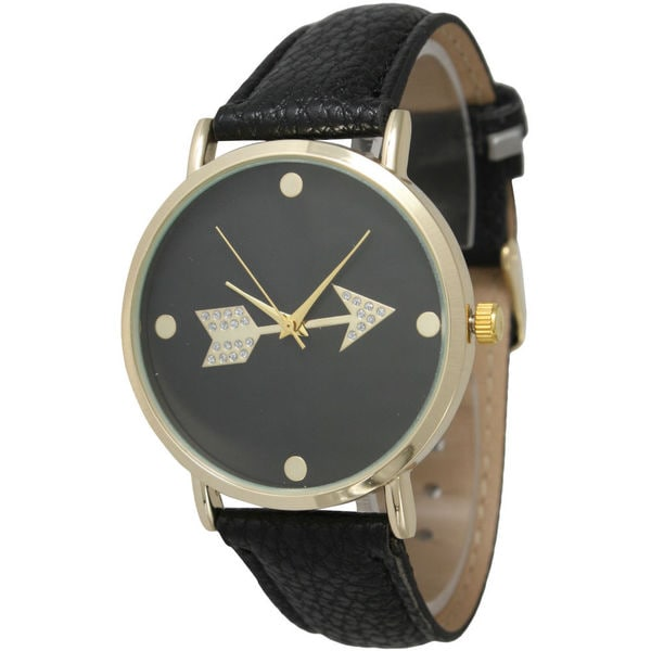 Olivia Pratt Women's Sparkly Gold Arrow Watch