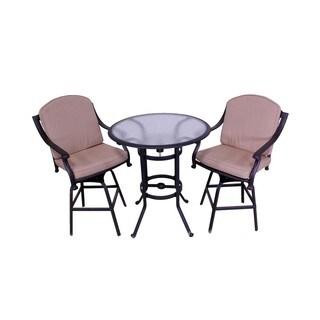 Rose 3-piece Bar Set with Heather Beige Sunbrella Cushions