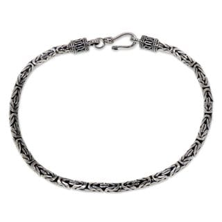 Men's Sterling Silver 'Borobudur Collection I Bracelet (Indonesia)