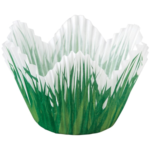 Petal Standard Baking CupsShaped Grass 24/Pkg