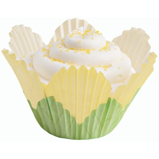 Fancy Standard Baking CupsPetal Yellow 24/Pkg