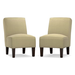 Angelo: HOME Jules Modern Yellow Deco Armless Chair (Set of 2)