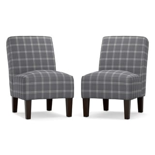 Angelo: HOME Jules Grey Stone Armless Chair (Set of2)