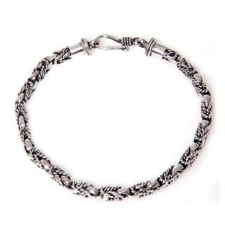 Handcrafted Sterling Silver 'Sinnet' Bracelet (Indonesia)