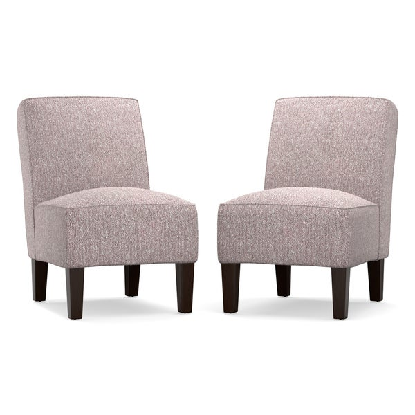angelo:HOME Jules Lilac Purple Herringbone Armless Chair (Set of 2)