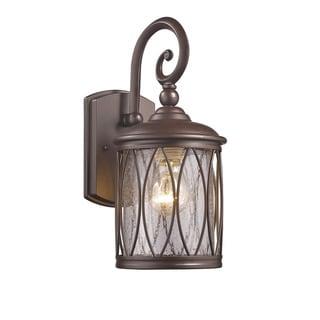 Chloe Transitional 1-light Rubbed Bronze Outdoor Wall Lantern