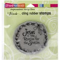 Stampendous Christmas Cling Rubber Stamp 4.75inX4.5in SheetJesus Wreath
