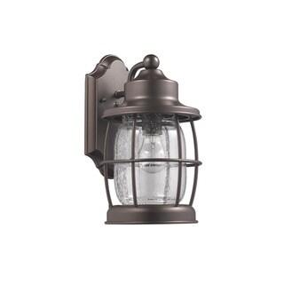 1-light Rubbed Bronze Outdoor Wall Lantern