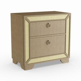 Furniture of America Maxine Modern Silver Mirrored 2-drawer Nightstand